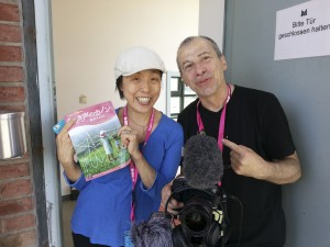 "After the interview with the director of ""Little voices of Fukushima""."