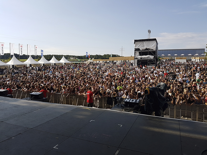 Day 1 - view from stage